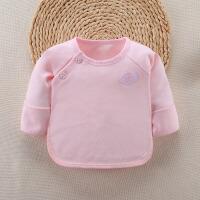 婴儿秋衣上衣新生儿半背和尚服内衣春秋夏季衣服