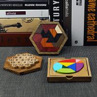 亲子游戏3-4-5-6-7-8岁儿童拼图九巧板拼板积木玩具