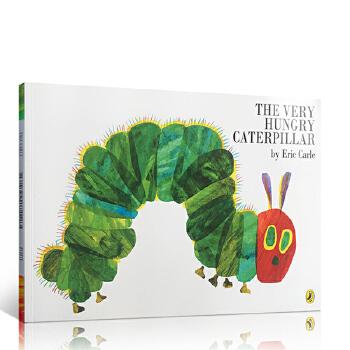 英文原版进口 The Very Hungry Caterpillar 好饥饿的毛毛虫 大开平装 Eric Carle艾瑞卡尔 廖彩杏张湘君书单推荐启蒙绘本童书读物 0-3岁