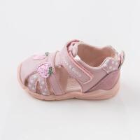 戴维贝拉春夏新款女童凉鞋宝宝公主鞋关键鞋DB7281