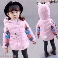 女童加厚棉袄冬装 女宝宝棉衣0-1-2-3岁外套婴儿童装5-6个月