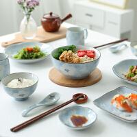 陶瓷二人食盘子汤碗碟套装餐具套装