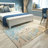 北欧时尚简约现代美式客厅地毯沙发茶几地毯卧室床边地毯定制