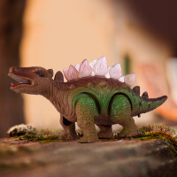 力辉玩具 儿童塑胶模型玩具 发光发声走路仿真电动恐龙玩具