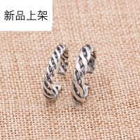2018抖音网红新品情侣戒指 925纯银手工时尚编织泰银开口指环