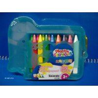 colorato卡乐淘三角形蜡笔16色套装粉色大象型盒 c-pc111/4