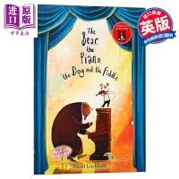 【中商原版】David Litchfield:熊和钢琴,狗和小提琴 Bear, The Piano 精品绘本 故事书 友谊 音乐 桥梁书 7~12岁 英文原版