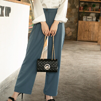 2021女包单肩包链条菱格时尚经典小方包斜跨包潮真皮