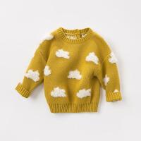 davebella戴维贝拉2018秋冬新款儿童针织衫 宝宝云朵毛衣DBW8295