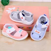 小宝宝机能凉鞋夏季男女婴儿学步布凉鞋透气吸汗