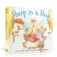 英文原版Sheep in a Shop 小羊在商店 廖彩杏 韵文 有音频 纸板书