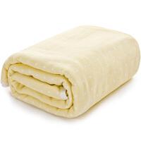 三利 纯棉高密度纱布亲肤童被 A类安全标准婴幼儿用品 裹巾 宝宝盖毯 105×105cm