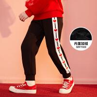【2件3折:78】巴拉巴拉旗下巴帝巴帝儿童裤子2019年新品中大童时尚甜美女童运动长裤