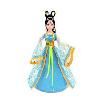 芭比娃娃古装仙子服装 古装娃娃服饰古代仙女服装女孩玩具 蓝色 12关节娃娃和服装(袋装送)