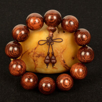 印尼佛珠手串2.0木质手链男士油梨老料