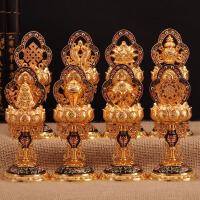 密宗藏传佛教用品 尼泊尔工艺吉祥八宝 6寸铜珐琅工艺八吉祥摆件