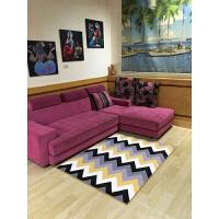 北欧简约风格几何图案地毯客厅欧式现代沙发茶几卧室床边薄款地垫