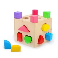 宝宝图形认知益智木制玩具1-3岁儿童几何形状配对积木多孔智力盒
