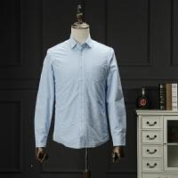国内单剪标冬装保暖衬衫蓝色商务休闲宽松加绒加厚衬衣男长袖