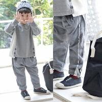 2019 韩版男童休闲裤秋冬新品童装裤儿童下装中小童裤 灰色