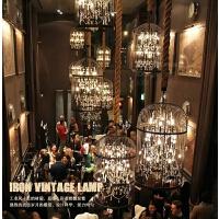 笼吊灯铁艺美式复古餐厅酒吧创意吧台服装店工业风灯具
