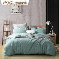 【1件5折】水星家纺 水洗棉四件套 简尘缘床上用品秋冬新品