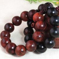 天然红木红酸枝木手串似小叶紫檀手串佛珠男女单圈手链转运珠饰品 精工小孔