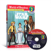 附CD英文原版 World of Reading Star Wars Listen-Along Reader 3-in