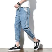 春季休闲牛仔裤男士日系长裤水洗哈伦裤潮流男裤子