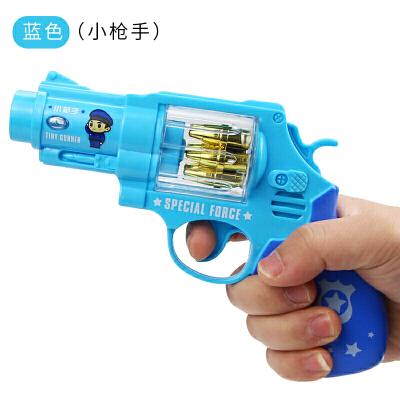 20190701213516058宝宝耐摔声光玩具枪男孩音乐枪1-2-3-4岁小孩警察小儿童玩具 神枪手(蓝色) 送2节5号电池 官方标配