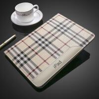 苹果新款iPad 2保护套真皮3韩国6全包边mini4迷你1平板5壳时尚韩版百搭复古潮流简约 MINI5 时尚格纹