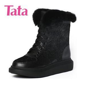 Tata/他她专柜同款牛皮女休闲靴2RP60DZ6