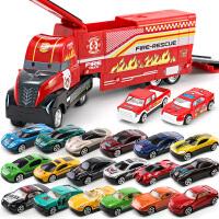 儿童玩具小汽车合金回力车模型套装男孩4惯性宝宝0-1-2-3-4岁仿真