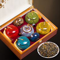 红茶金骏眉礼盒装春节年货*礼品茶叶礼盒装送茶具