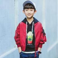 童装男童春装外套2018新款儿童夹克外套春秋款中大童韩版棒球服潮