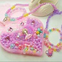儿童手工串珠宝宝益智玩具DIY项链手链手工制作穿珠子材料包礼物