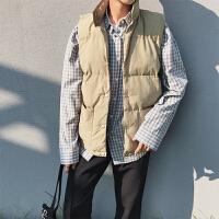 棉衣马甲男士冬季新韩版潮流帅气青少年立领保暖外套加厚男士棉背心