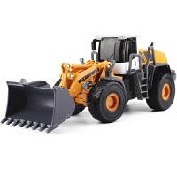 推土机工程车合金小汽车模型儿童玩具合金大铲车 装载机