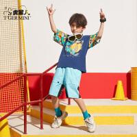 【2件3折:37.5元】小虎宝儿男童短袖t恤2021年夏季款中大童纯棉韩版儿童半袖上衣