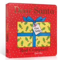 【全店300减100】英文原版绘本Dear Santa 亲爱的圣诞老人 纸板翻翻书节庆 Dear Zoo作者Rod Ca