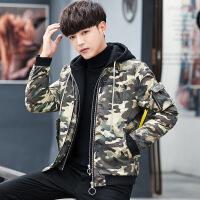 迷彩羽绒服男潮轻薄款短款2018冬季新款冬装韩版潮流帅气青年外套