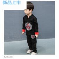 男童唐装中国风男宝套装2-3-4-5岁抓周礼服 小孩棉质春秋装两件套宽松大码