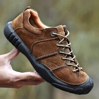 透气登山鞋男防水防滑运动徒步鞋男低帮防滑轻便户外休闲鞋