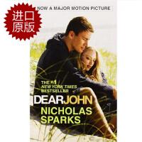 英文原版 Dear John 分手信 尼古拉斯纯爱系列小说