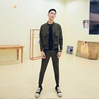 轻熟男 春装大口袋休闲立领棒球衣 运动夹克(裤子另售)