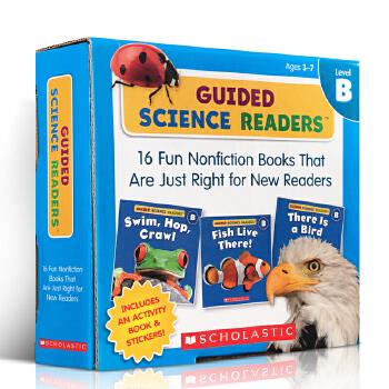 进口英文原版正版 Guided Science Readers Parent Pack: Fun Nonfiction Books Level B科学指导读本系列套装含16本读本+练习册