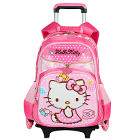 HelloKitty凯蒂猫 小学生拉杆包KT书包儿童三轮可爬楼梯拉杆书包 SK92019