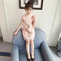 女童旗袍夏装新款儿童唐装中国风童装连衣裙宝宝小女孩演出公主裙
