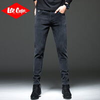 Lee Cooper休闲舒适商务青年宽松裤潮直筒纯色男士牛仔裤