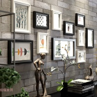 照片墙相框墙一面墙装饰客厅创意墙上相框挂墙组合连体挂相片框